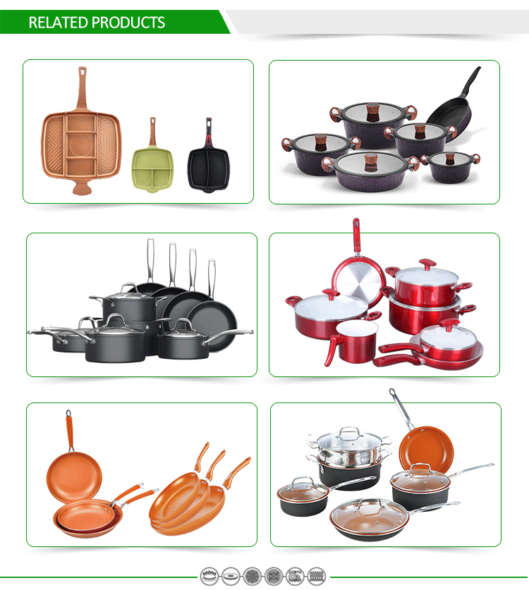 10pcs Forged Aluminum Cookware Set Forest Line