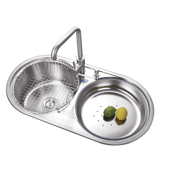 Stainless Steel Double Bowl Round Kitchen Sink,Oval Shaped Kitchen Sink  Banka - Buy Stainless Steel Double Bowl Round Kitchen Sink,Oval Shaped  Kitchen ...