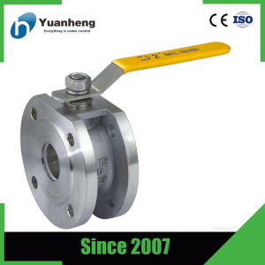 1 PC 300lb stainless wafer ball valves