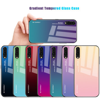 Hot Sale glass back shell gradient phone case for Huawei P30 P30 Pro