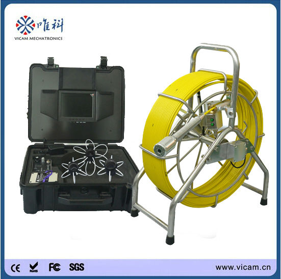 40MM self-leveling image waterproof plumbing sewer pipe inspection camera with memory card