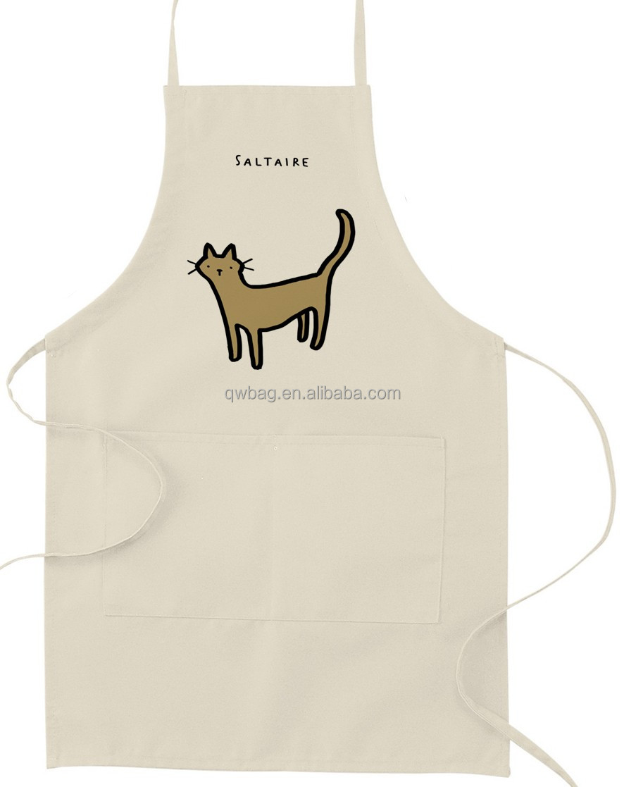 China supplier costom printing 100% twill cotton kitchen apron