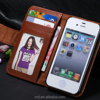 Stand Wallet Purse Cover Credit Card Slot Photo Frame Flip Leather Case for iPhone 4 4S 5 5S 5C RCD02342
