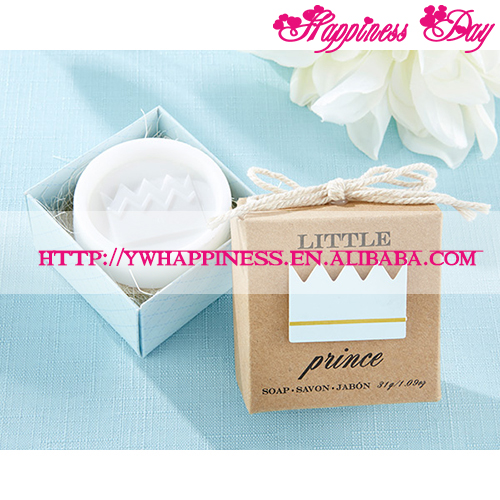 "New Baby Boy Gift ""Little Prince"" Crown Shaped Soap Wedding Souvenir Baby Birthday Gifts"