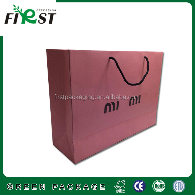 New fancy custom logo printed shopping bag gift paper bag with handle/Custom High-end Luxury Shopping Paper Bag For Clothes