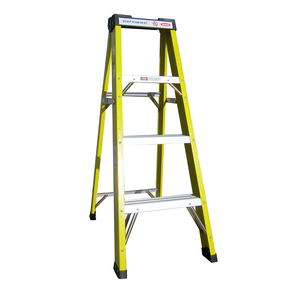 Swell 25 Percent Greater Step Single Side Three Layers Fiberglass Ladder Caraccident5 Cool Chair Designs And Ideas Caraccident5Info