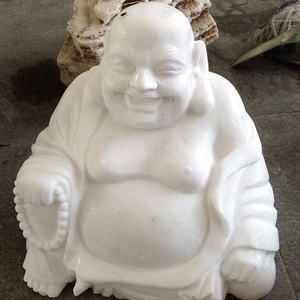 Garden decor white marble laughing buy buddha statue for sale