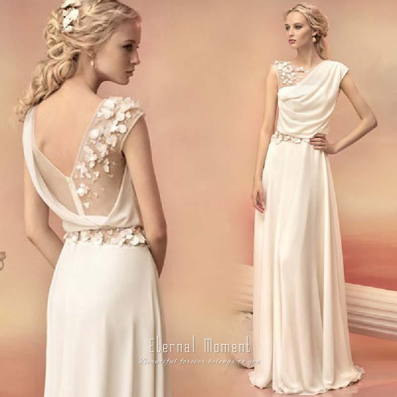 2015 Spring Beach Greek Goddess Wedding Dress Open Back: Greek Prom Dresses Promotion-Shop For Promotional Greek