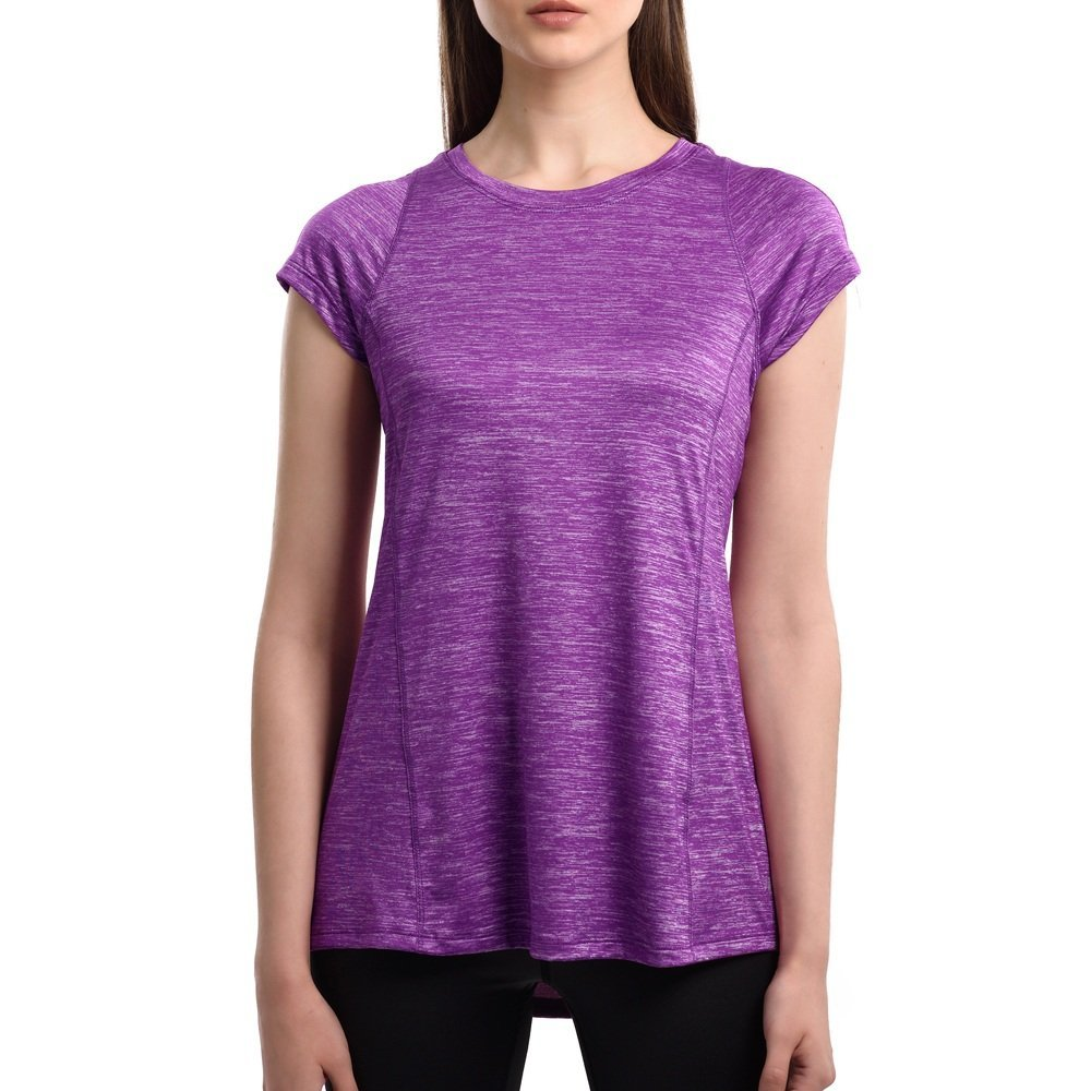 32e881225b6a7 Get Quotations · Women s Short Sleeve Tops Casual Quick-drying ( Color   Dark  purple