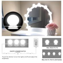 Hollywood Style LED Vanity light Bulbs Wall lamp Bathroom Makeup Vanity Dressing Table Mirror light Touch Control Dimmable EU/US