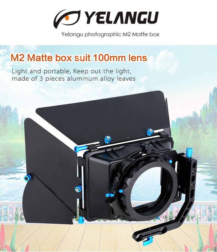 YELANGU プロ PhotographicAluminum 合金 M2 カメラマットボックススーツ 100 ミリメートルレンズ