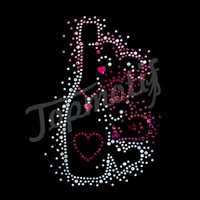 Fancy Hot fix Rhinestone Transfer Heart Rhinestone Embellishment