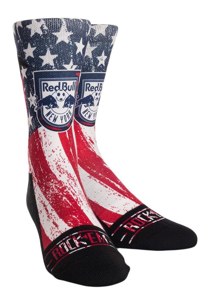 MLS New York Red Bulls Custom Athletic Crew Socks, Youth, Club/Country