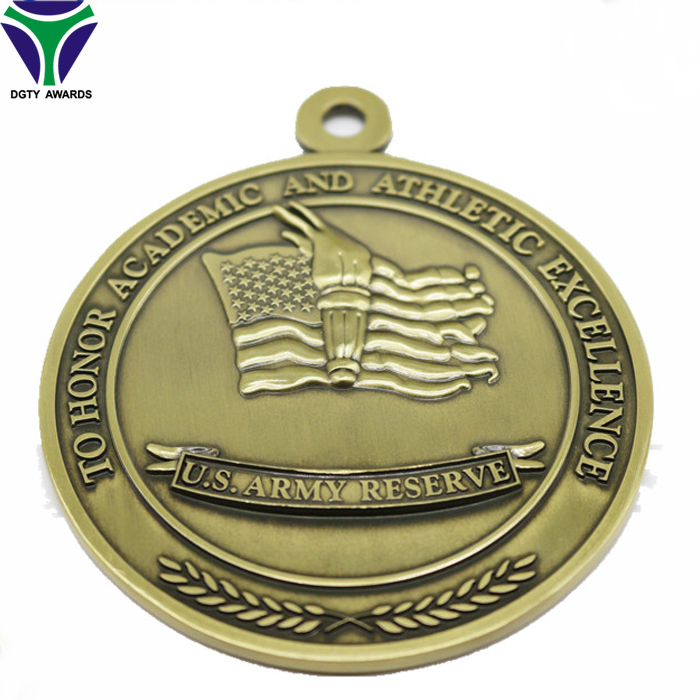 Manufactory Produce Academic And Athletic Excellence Award Medal
