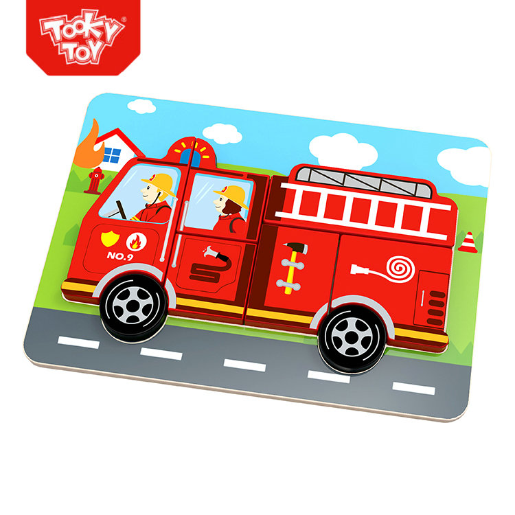 2019 New China Factory Chunky Puzzle - Fire Truck