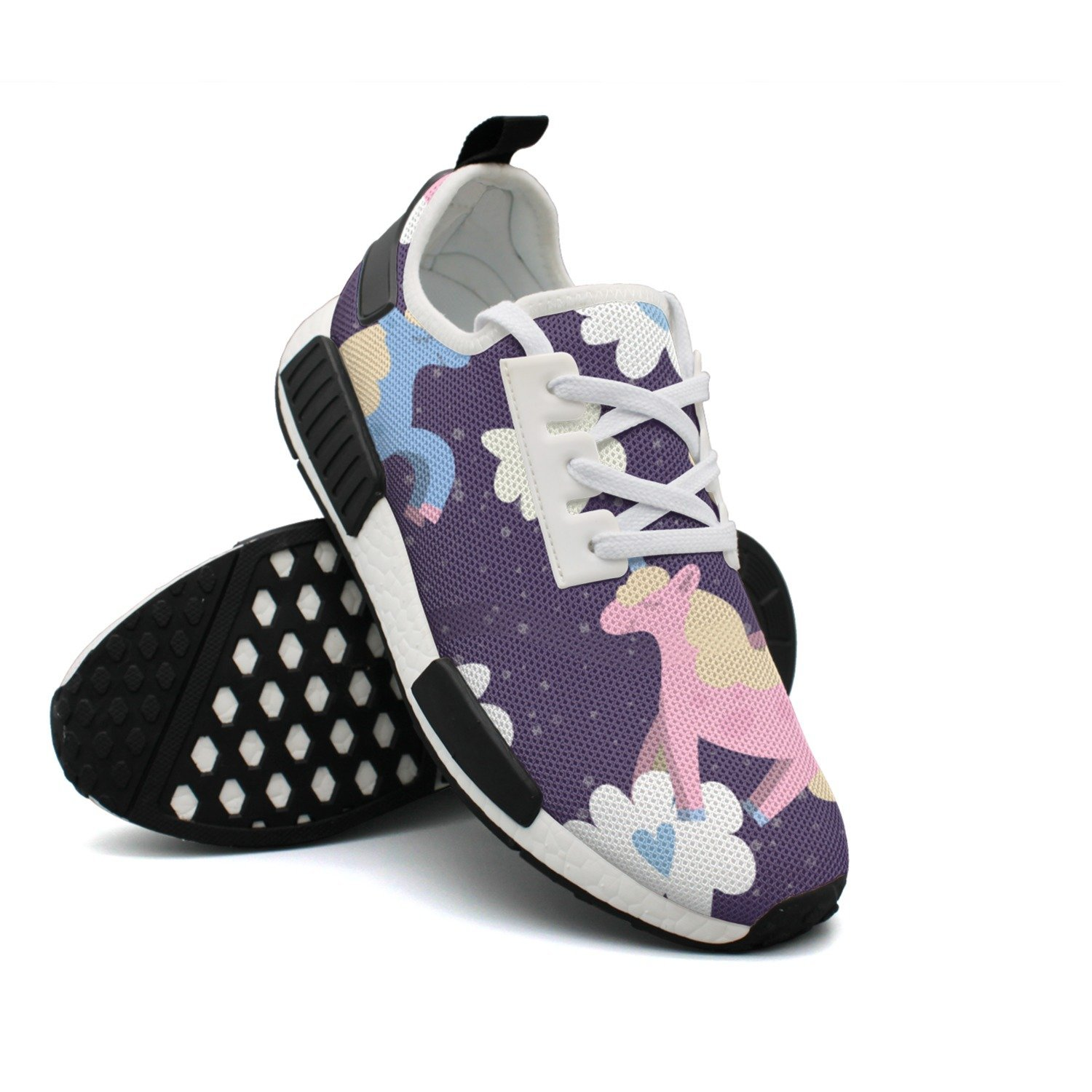 FZDH4 Women's Athletic Running Shoes Fashion Sneakers Fitness Shoes Casual Mesh Soft Sole Lightweight Breathable Running Unicorn Casual Walking Sneakers