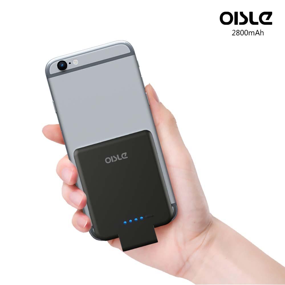OISLE 2800mAh Wireless Power Bank Palm-Sized Battery Case for iPhone фото