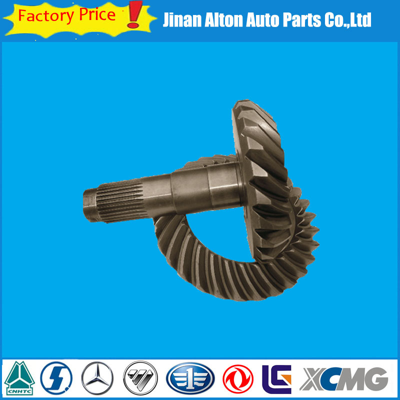 Ratio 24/29 Gear Ankai Bei Ben Rear Axle Crown Wheel And Pinion Ring Gear Dongfeng Volvo Truck Spare Parts