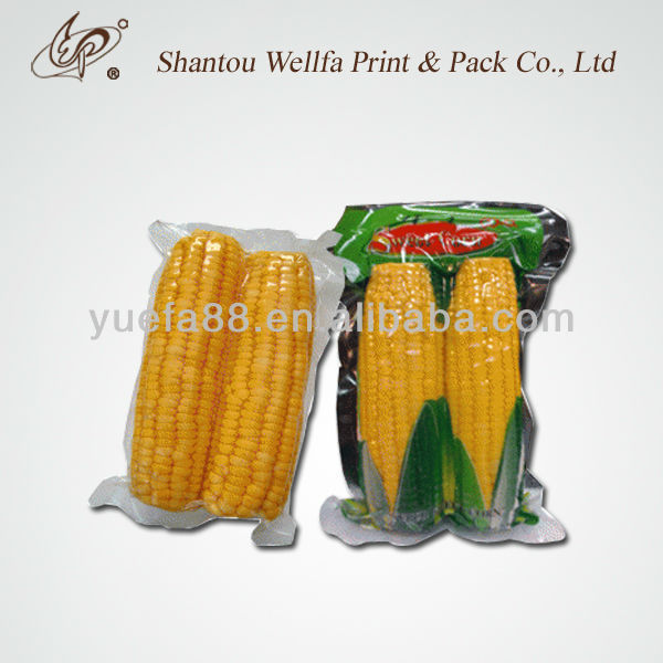 Vacuum Cooking Bags Printed Plastic Boiling For Corn Packaging