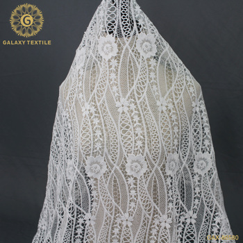 Custom Embroidery Guipure Water Soluble Dress Making Encaje Lace Fabric  GAX-86580