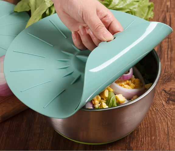 Amazon hot Food Cover Silicone Suction Lid Built In Set
