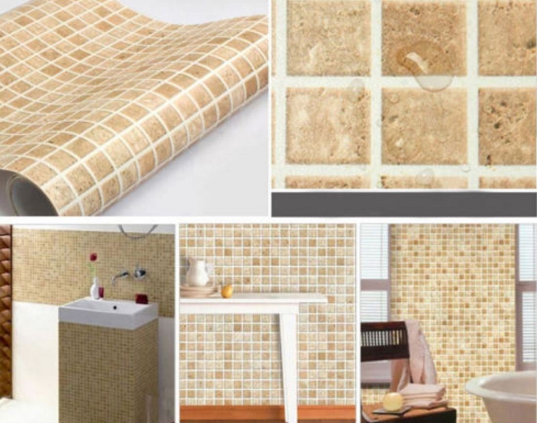 Buy wall paper adhesive Self-adhesive Mosaic Wall Paper Sticker Tile ...