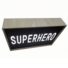 custom made free combination led cinematic letter light box wood frame box led signs