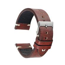 Ремешок для часов KZ1229, из натуральной кожи в ретро-стиле, 18 мм, 20 мм, 22 мм, 24 мм, с пряжкой(Китай)