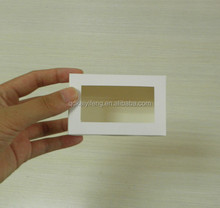 China factory white color paperboard small cake box packaging with clear window