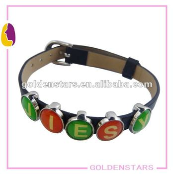 Make Your Own Lethter Bracelet With Slider Charms Name