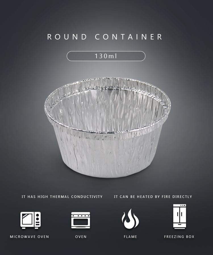 4 OZ round aluminum foil container