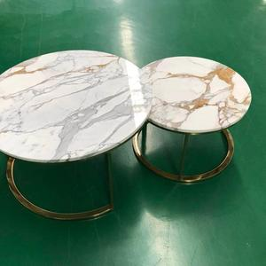 Factory direct supplier stone cafe table marble side table modern style round coffee table for sale