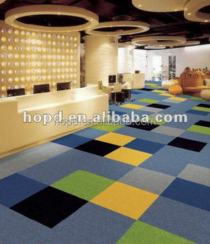 Diffe Solid Color Chinese Carpet Tiles With Pvc Backing