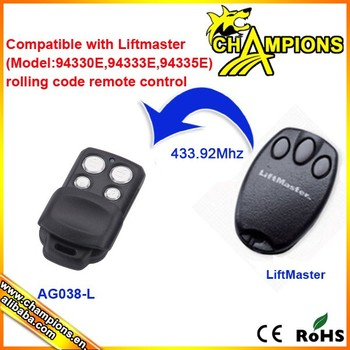 Ag038 L Compatible With Liftmaster Remote 94335e 94333e Replacement