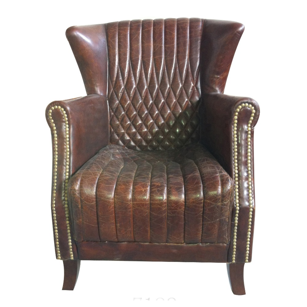 Antique Old Leather Sofa Chairs Armchair For Sale - Buy ...