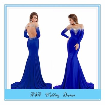 Latest Design Formal Evening Gown Royal Blue Long Formal Dresses