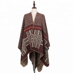 Fashion Accessories Shawls Womens Cardigan Acrylic Poncho Wrap