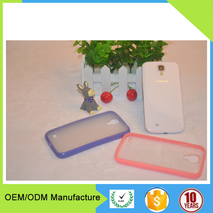smart phone accessories transparent tpu mobile phone back cover case for Samsung s4 casing