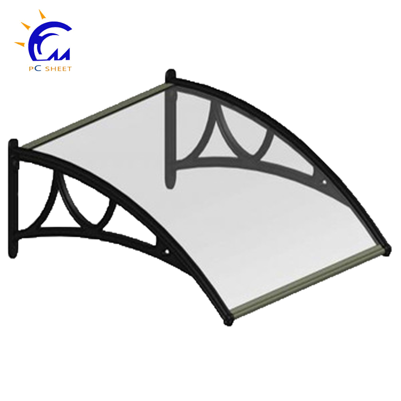 Clear Polycarbonate(PC) door ,window or balcony used awnings for sale