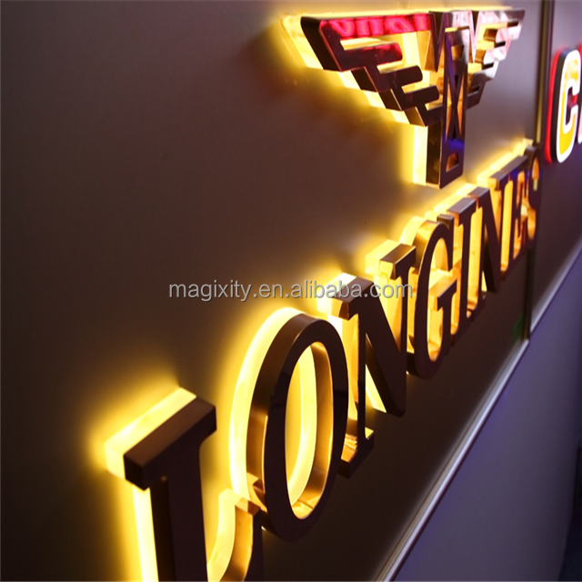 Outdoor advertising luminous acrylic letters 3D LED Edge lit Channel Letter Sign