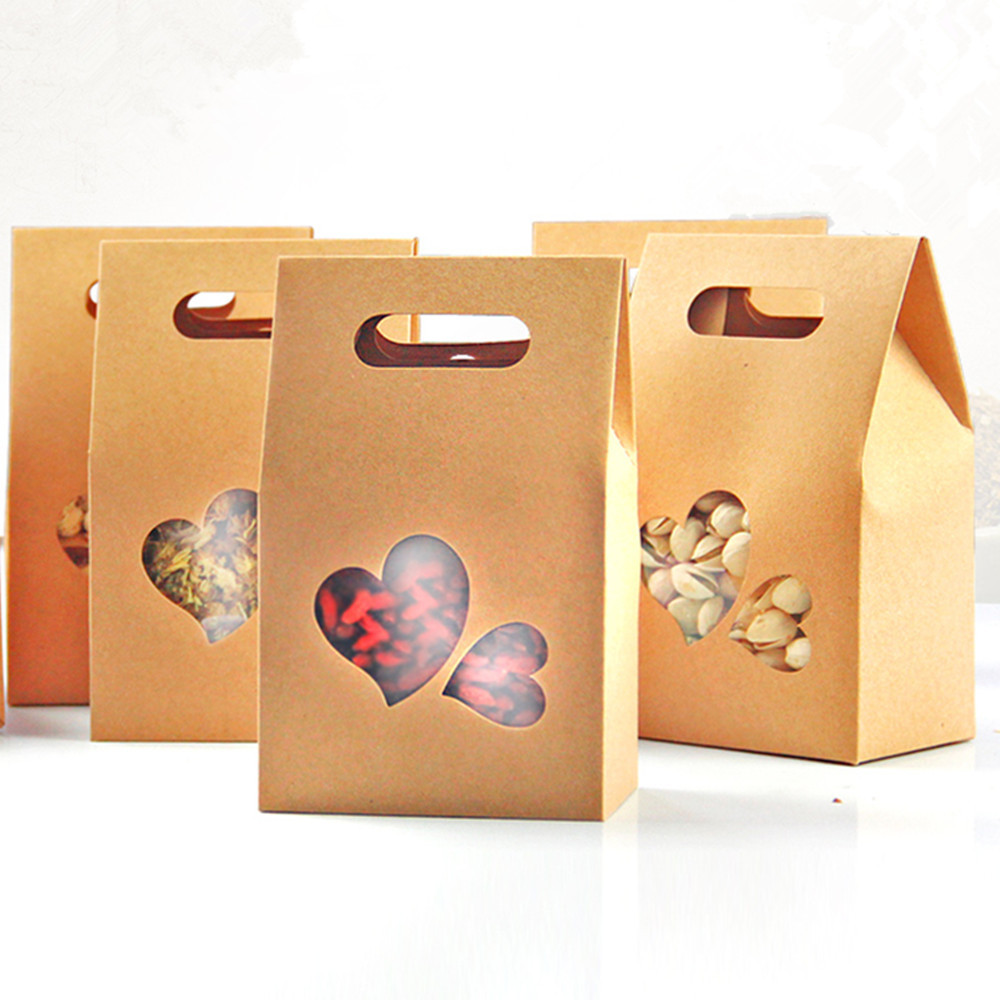 cheap paper food boxes paper food boxes deals on line at get quotations acircmiddot 20pcs lot 10 5 15 6cm bottom stand up bags kraft paper handle boxes