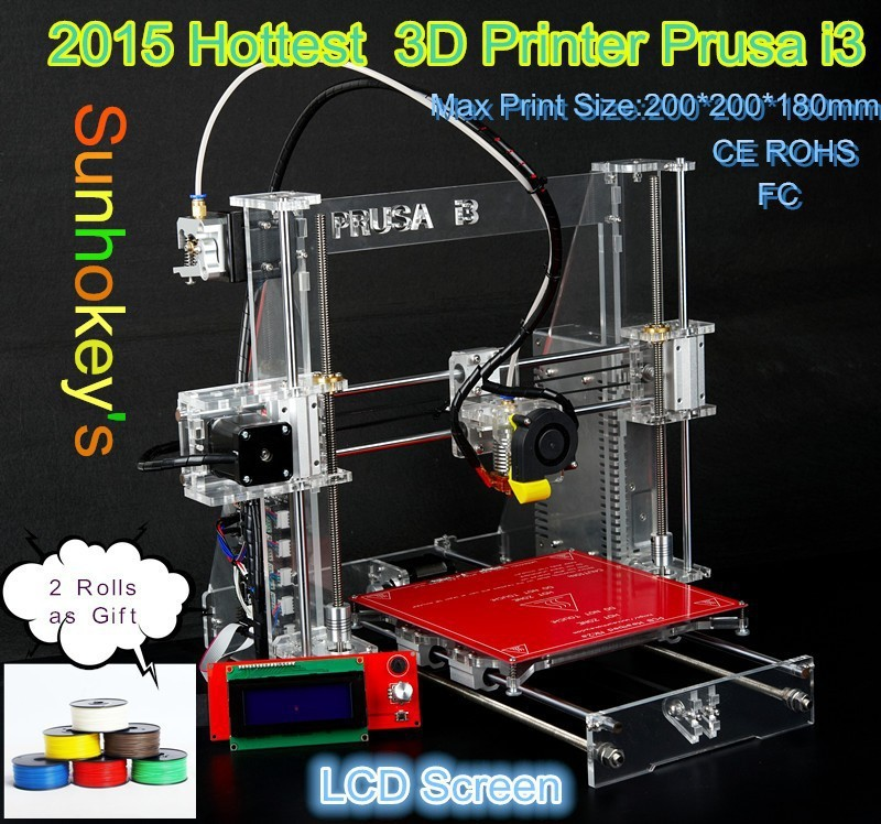 2015 newest Reprap 3D Printer Self-replicating Machine Open Source 3D Print Duplicator DIY KIT for ABS PLA Z605