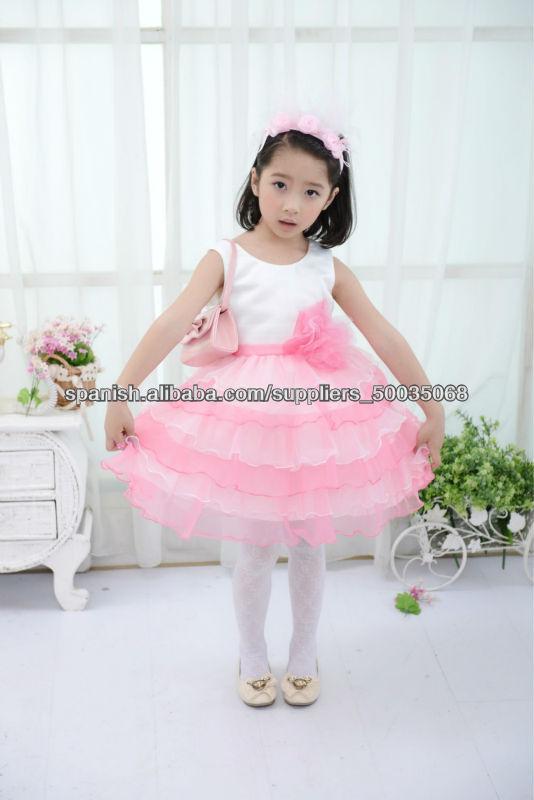 nueva floral vestido de baile de salón de moda para niños de 4-12Y ...