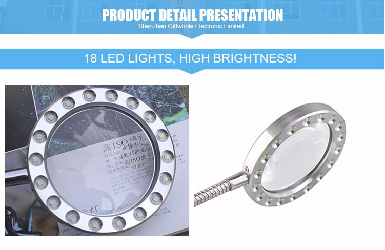 Factory Directly magnifying glass with light