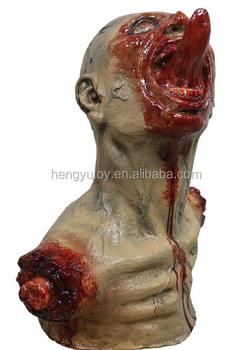 Dismembered Hanging Zombie Dead Head Halloween Fancy Dress Decoration Party Prop