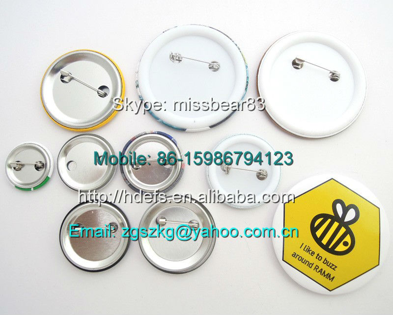 blank pin badge buttons for promotional