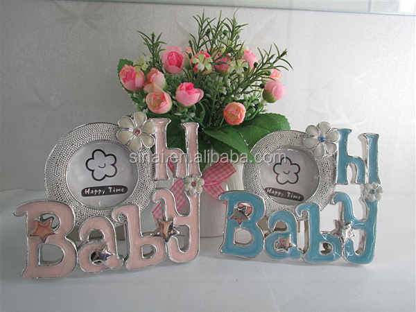 Boy and Girl Baby Resin Photo Frame