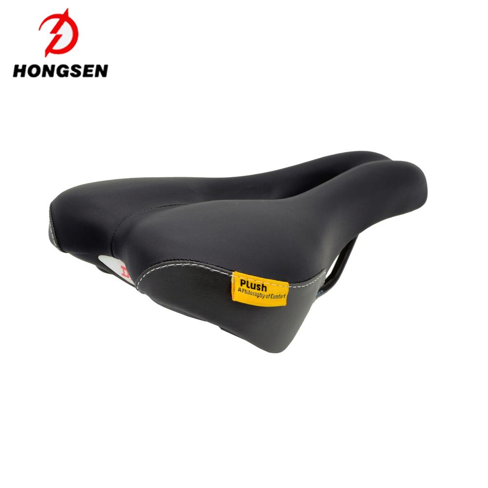 MTB Mountain Bike Saddle PU Leather Bicycle Seat Antishock Comfort
