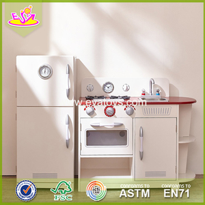 Wholesale fun cooking toy role play wooden kitchen set toy for children W10C256