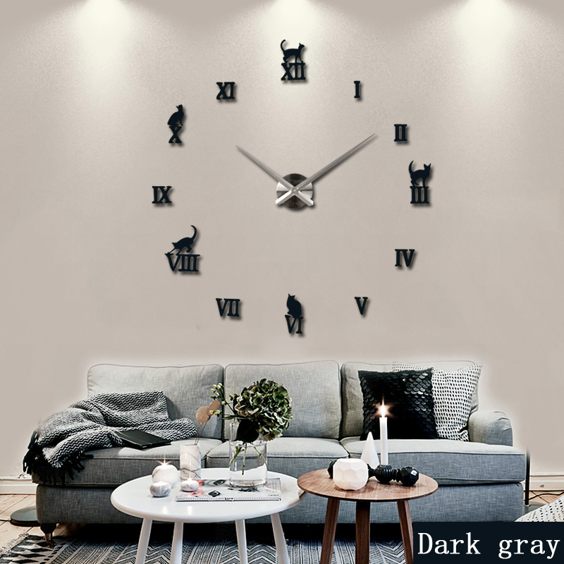 2016 large decorative wall clocks brief design diy clocks digital watch quartz living room 3d. Black Bedroom Furniture Sets. Home Design Ideas